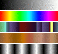 Some examples of GIMP gradients.