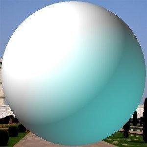 La stessa immagine, prima e dopo l'applicazione del filtro designer sfera.
