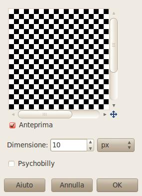 Opzioni del filtro scacchiera