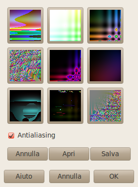 Opzioni del filtro Qbista